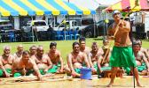 Traditional leaders and untitled men of the Manu'a district perform the Ava Ceremony at yesterday's inauguration for Gov. Lolo Matalasi Moliga and Lt. Gov. Lemanu Palepoi Sialega Mauga. [photo: AF]