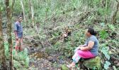 Dr Anita Latai-Niusulu interviewing a Samoan farmer at his plantation