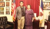 Congresswoman Amata and Rangel Fellowship winner John Iosefo