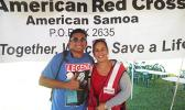 June Maeva with another Red Cross volunteer