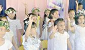 Some members of  K-5 Fatuoaiga Montessori School performing at their graduation ceremony