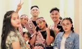 Members of different Filipino dance groups came together as KOMBAYN