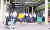 LDS church missionaries at Majuro airport