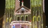 CCCAS Church in Leone decked out in Chritmas lights