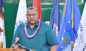 Lt. Gov. Lemanu Sialega Palepoi Mauga, who is also the acting governor