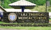 Photo of LBJ Hospital sign