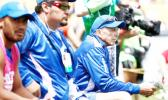 TOUGH DAY IN THE OFFICE: Sir Gordon Tietjens looks on as his Manu Samoa Sevens gets kicked around at the Wellington Sevens yesterday. (Photo: H.S.B.C Sevens.)