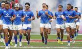 Manu Samoa takes the field at 2020 USA Sevens