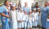 Some Manumalo Academy K-5 graduates shortly before the ceremony