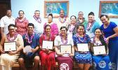 McDonald's scholarship recipients and their parents