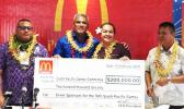 Pacific Games office receives $200,000 from McDonald's Restaurant