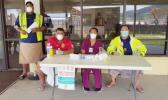 Measles screening at Pago Pago International Airport.