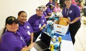 Medicaid staff at the airport on the night of the charter flight