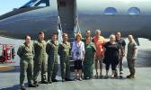 Aumua Amata with Chairman Lisa Murkowski of Alaska, and the military flight crew