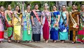 Miss Samoa, Sonia Piva with nine contestants