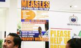 Measles posters on display in Samoa.