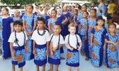 American Samoan children celebrate Flag Day