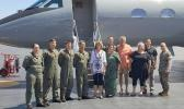 Senator Murkowski and Aumua Amata with flight crew