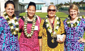 Pictured (l-r): H. Gingerlei Porter, Director of Pacific Desk; Elinor Lutu-McMoore, MIC WSO Pago Pago; Rep. Andra Samoa; and Jennifer Strahl, Lead Meteorologist Pacific Desk