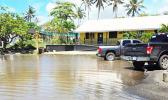 Flooding at Nu'uuli Vocational Technical High School main office