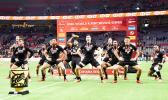 New Zealand All Blacks performing haka in Vancouver