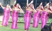Taupou Samoa group that came from California and performed during the 2018 2Samoas Samoana Jazz & Arts Festival