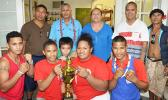 Despite tough competition in Apia, the American Samoa Amateur Boxing Association team that represented the territory during the Teuila International Boxing Championships  returned home victorious, winning the Samoa Championship Trophy. [photo: AF]