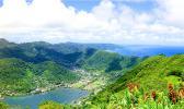 Pago village and harbor