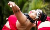 Nikki Upoko of Ura Tabu practices her dance
