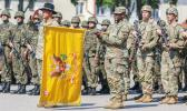 U.S. Army Command Sgt. Maj. Keneti Pa'uulu during ceremony