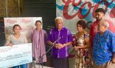 (L-R) Louisa Kuea, PPTC's owner and CEO, Ella Gurr;  VP SJAF, Ali'itama Sotoa; SJAF consultant, Peta Siulepa; and SJAF Board member Vaitoa Hans Langkilde.