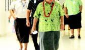 Prime Minister Tuilaepa Sailele Malielegaoi without a mask
