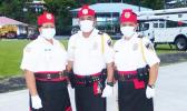 Three members of the Department of Public Safety honor guard