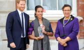 Prince Harry and Leilua Lino