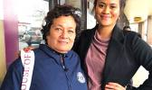 Amata with North Park University's Student Body President, Rakiiba Va'alele.  [photo: courtesy]