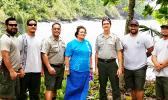 Rep. Amata with Sup. Scott Burch, Ranger Pua Tuaua, Jr. and hardworking maintenance crew
