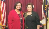 Congresswoman Amata and Homeland Security grants administrator Lisa Tuato'o