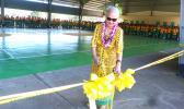 Fofo Rep. Andra Samoa cutting the ribbon last Friday