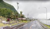 The road into Autu'u village