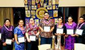 Rotary Club of Pago Pago members and seniors from every high school on island