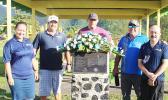 Rotary members at the Tsunami Memorial Picnic Shelter