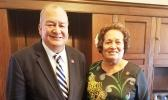 Congresswoman Amata with Congressman Sablan