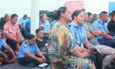 POLICE GATHERING: Police officers during their gathering last Friday. [Samoa Observer]