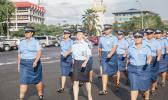 S.P.W.A.N members march to commemorate International Women's Day. [Samoa Observer]