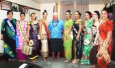 Samoa Airways Minister Lautafi Fio Selafi Purcell  with Miss Samoa contestants
