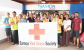 Samoa Air employees answering the call for blood last Friday
