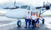 Captain Christian Tooala, Capt Peni Maiava, and Engineers Lafaele Pati and Fiti Amituanai.