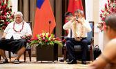 Prime Minister Tuilaepa Dr. Sailele Malielegaoi and Vice Premier Hu Chunua at ava ceremony