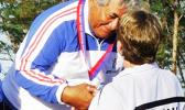 Prime Minister Tuilaepa Lupesoliai Sailele Malielegaoi was awarded a silver medal in archery in the 2007 Pacific Games. [Courtesy photo]