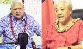 Tuilaepa Sailele Malielegaoi, left; and Fiame Naomi Mata'afa.